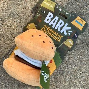 Bark box SMores Dog Toy Campfire squeaker New